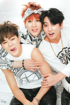 Jimin, Yoongi et Jungkook ❤Jikook❤Yoonmin❤Yoonkook❤ notre super beau couple a 3