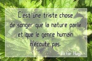 La nature parle et le genre humain .... n'écoute pas