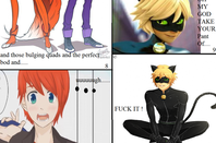 I'm Note Gay (meme) - Chat Noir/ Adrien x Nathaniel (fait par moi)(dernière image sur le post suivant)
