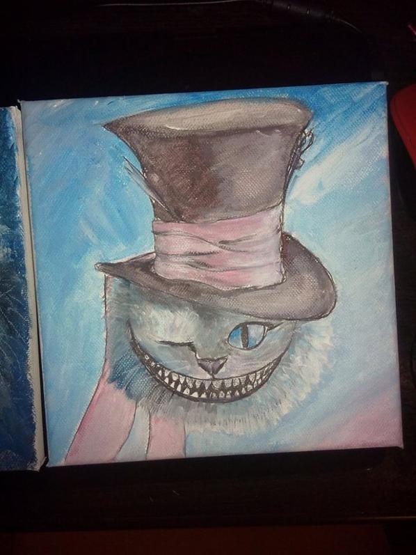 Peinture de chat d'Alice