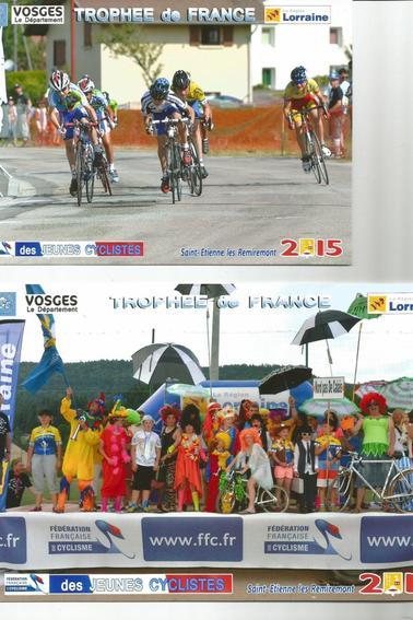baptiste aux championnats trophée france des jeunes  cyclisme