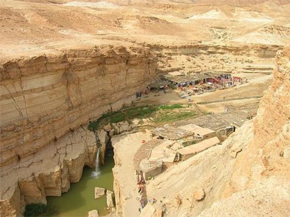 cascade de tamerza  region tozeur sur de tunisie