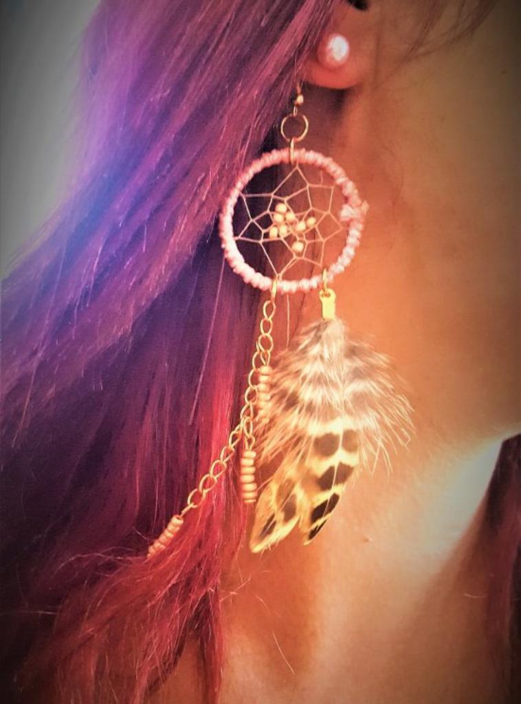 Boucles d'oreilles attrapes-rêves