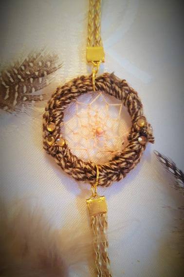 bracelet attrape-rêve marron