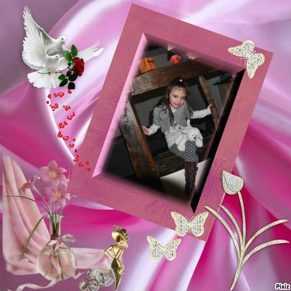 mes deux filles d amour et ma filleuile cherie..