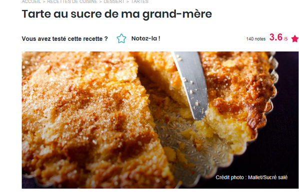 tarte au sucre facon grand mere
