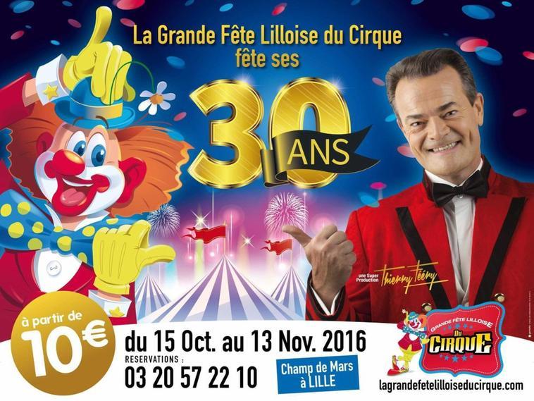 affiches grande fête lilloise du cirque 2016 + Arlette Gruss 2017