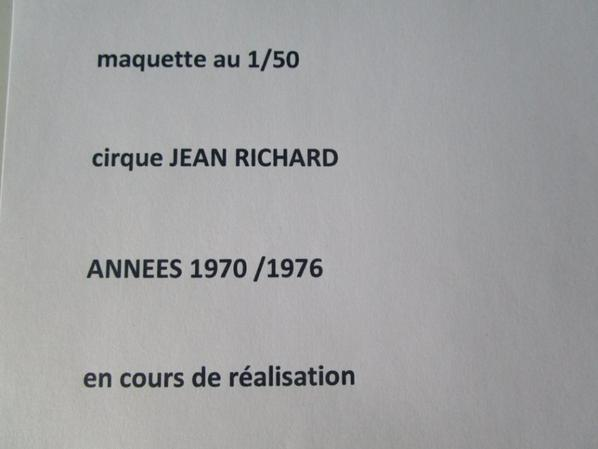 maquette cirque Jean Richard !!!