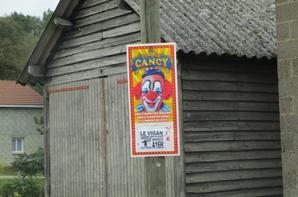 cirque CANCY commune LE VIGAN , le 1 er octobre 2017 , l'affichage !!!