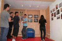 Preparation de l'expo pour Musiques en stock festival 2012