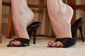 Escarpins noirs vernis rouge