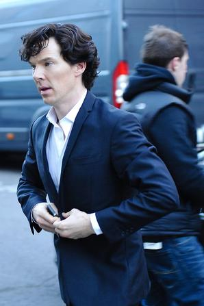 Arrivée des artistes sur le tournage de la saison 3 de Sherlock