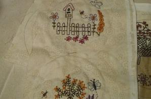 "Patch et broderie "" In full bloom BOM"" de Lynette Anderson"