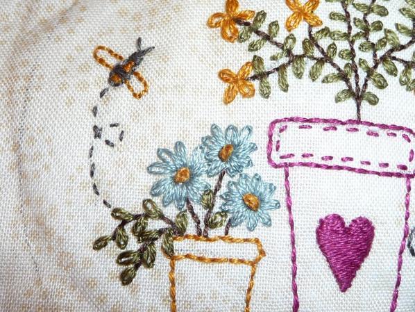 "Patch et broderie "" In full bloom BOM"" de Lynette Anderson"
