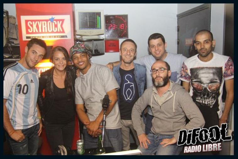 Les photos de T.I dans la Radio Libre de Difool