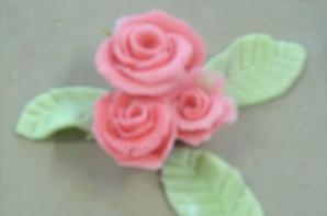 fleurs en pâte d'amende