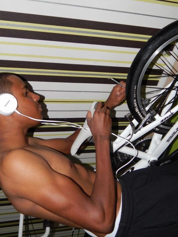 après le lavage du vélo mécanique ^^