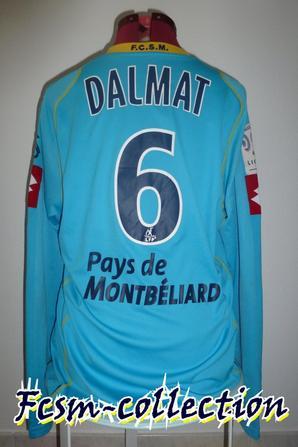 Maillot porté par Stéphane DALMAT à Valenciennes le 22/11/2008