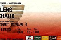 Exceptionnel !! Maillot porté et dédicacé de Pierre-Alain Frau 1/4 de finale coupe de la ligue à Lens le 13/01/2004