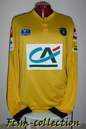 Maillot porté par Pierre-Alain FRAU en Coupe de France à Angers le 21/01/2014