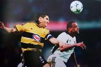 Maillot porté par Maxence Flachez en coupe Intertoto contre Fulham