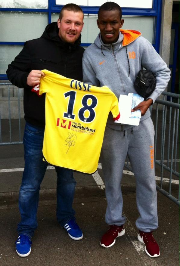 Maillot porté par Seikou Cissé contre Niort le 15/01/2016