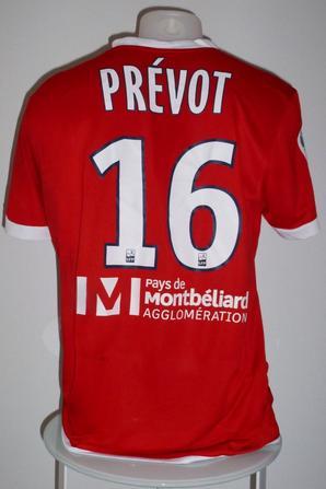 Maillot porté par Maxence Prévot contre Brest le 29/08/16