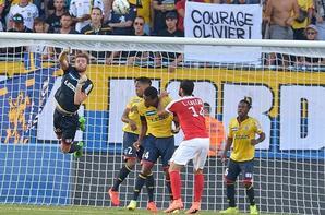 Maillot gardien porté 2ème tour de coupe de la ligue contre Brest le 23/08/16