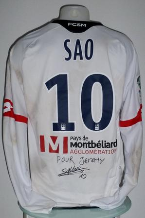 Maillot porté par Moussa Sao le 25/11/2016 au Gazelec Ajaccio