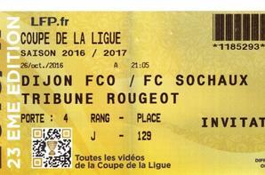 Maillot porté par Florian Tardieu 16ème coupe de la ligue à Dijon le 26/10/16
