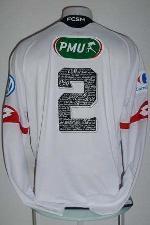 Maillot porté par Mickael Alphonse à Pontarlier au 7ème tour de la Coupe de France