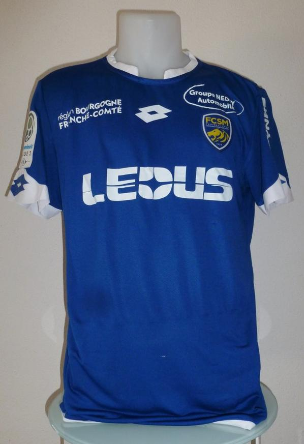 Maillot bleu gardien porté en championnat