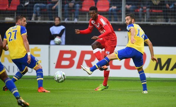 Maillot porté à Valenciennes le 08/08/2017 lors du 1er tour de coupe de la ligue