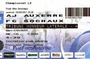 Maillot porté par Maxence Prévot à Auxerre le 29/09/2017