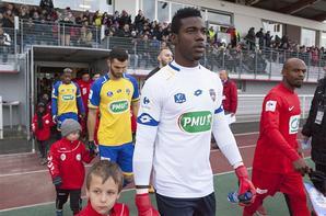 Maillot gardien porté à Saint Louis 1/32eme coupe de France le 02/12/2017