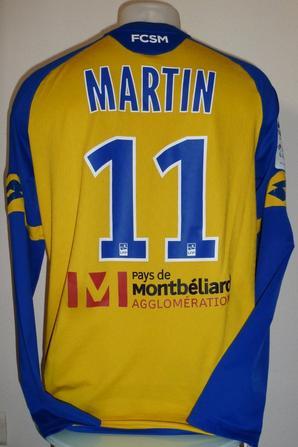 Maillot porté par Florent Martin contre Valenciennes le 28/11/17