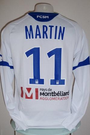 Maillot porté par Florian Martin à Lens le 30/01/2018