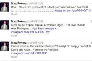 Twitter + info de Matt à NYC