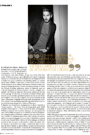 M Pokora dans le magazine ELLE