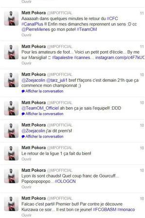 Voila tout les tweets et toute les photos de Matt du cette semaine