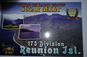 Confirmation QSL avec 173SD109 (LA REUNION)
