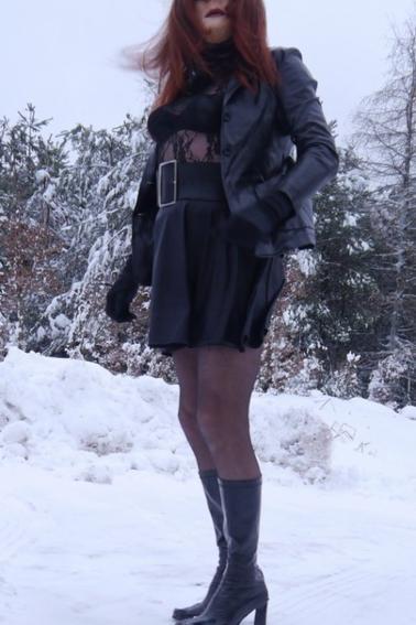 sortie sous la neige