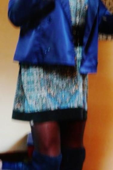 Tenue bleue...