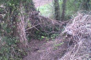 les deux bunkers de notre terrain fabriqués main