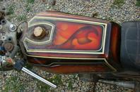 YAMAHA 250-350 RD de 1973 peinture perso de 76