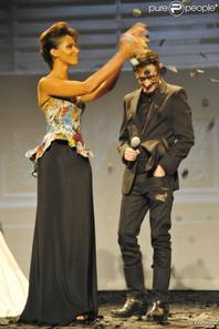 Fashion Week Shy'm étais au défilé de Frank Sorbier au Theâtre Antoine (le 4juillet)