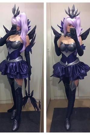 Cosplay de Dark Elementary Lux (League Of Legends)