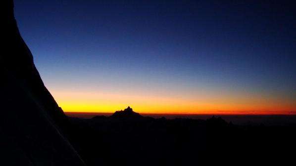 Rêve éphémaire d'alpiniste