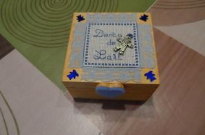 boite à dents de lait bleu ( version garçon) - vendue