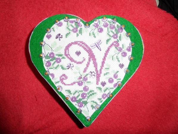boite coeur monogramme N - vendue